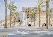 The Citadel and Palms, Aleppo, Syria